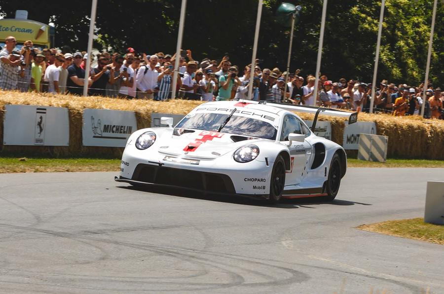 Porsche 991 RSR racer makes debut at Goodwood