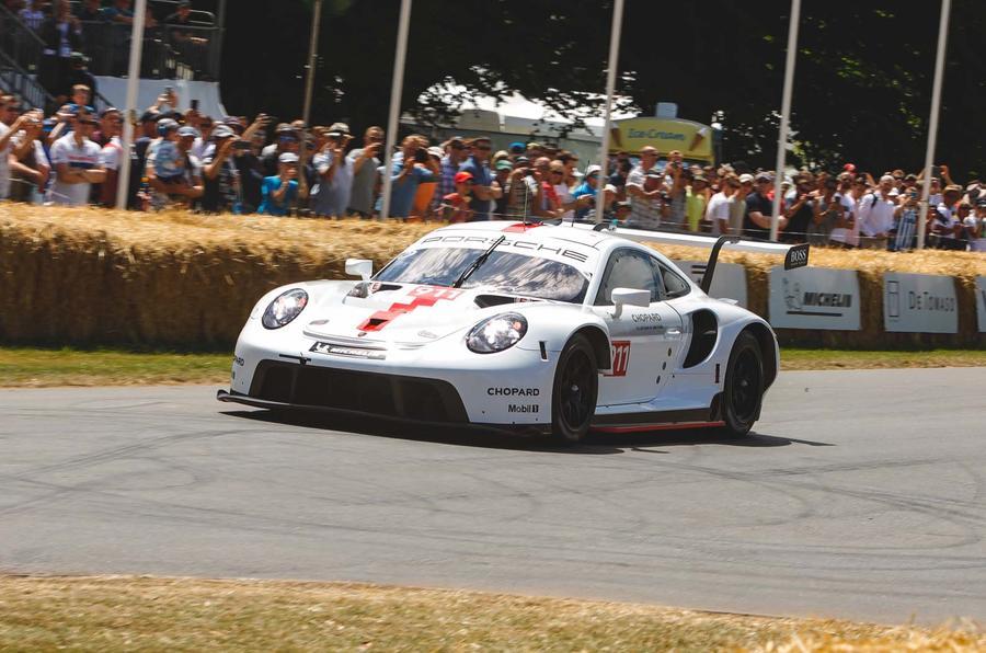 Porsche 991 RSR racer makes debut at Goodwood