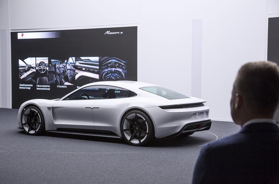 Porsche Mission E Electric Saloon Revealed At Frankfurt