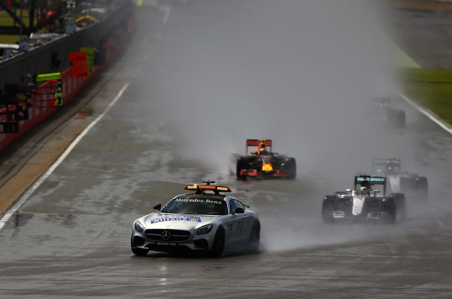 British Grand Prix safety car start