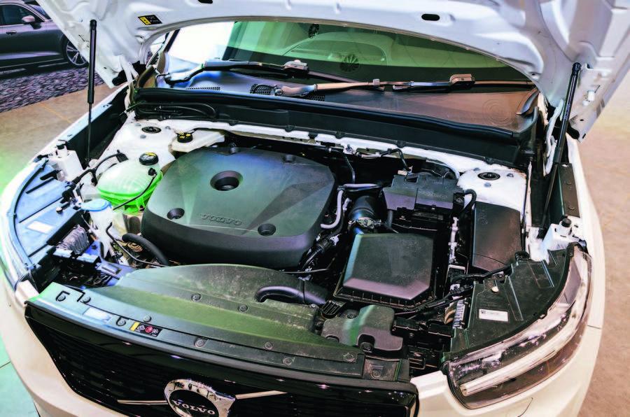 Volvo XC40 engine bay