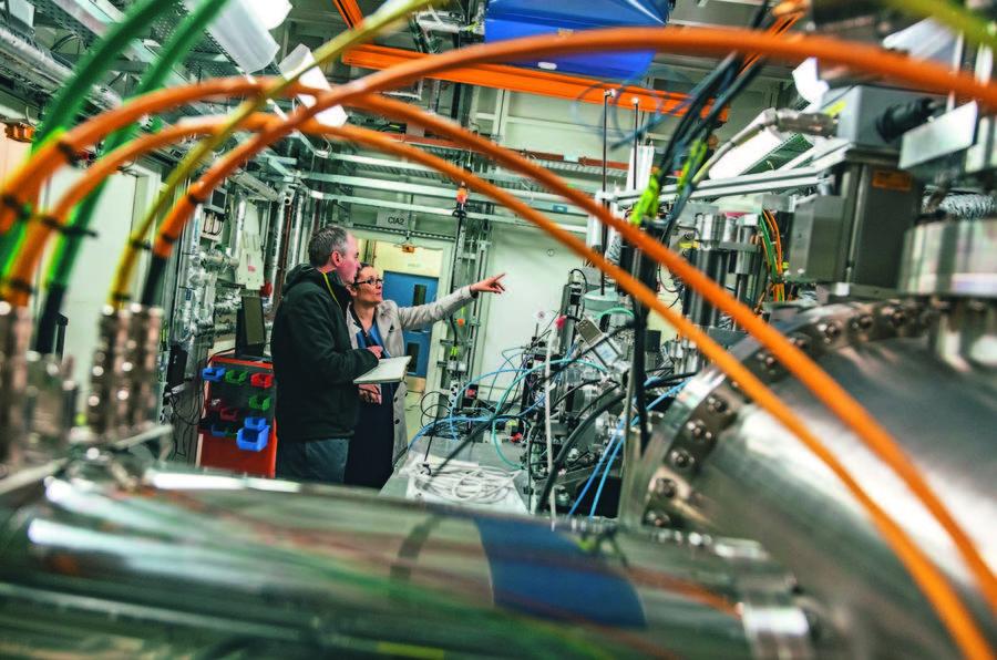 Ariel Atom goes to Diamond Light Source - inspecting machinery