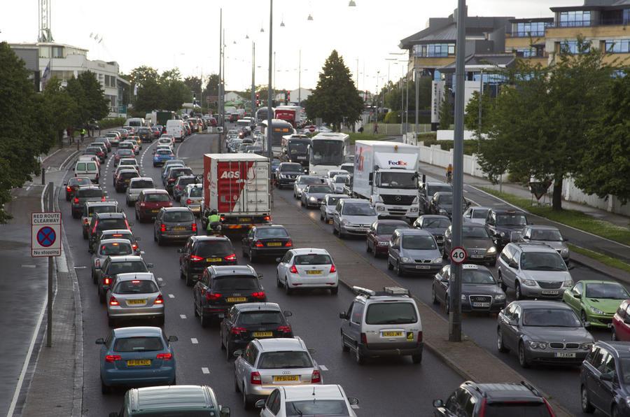 Motorway traffic in UK