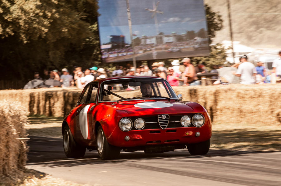 Alfa Romeo GTAm at Goodwood Sam Sheehan