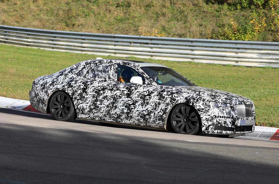 Rolls-Royce Ghost Nurburgring spies front side