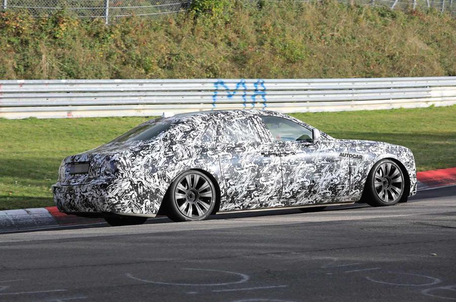 Rolls-Royce Ghost Nurburgring spies side on