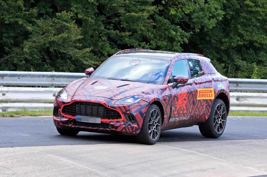 Aston Martin DBX Nurburgring spyshot