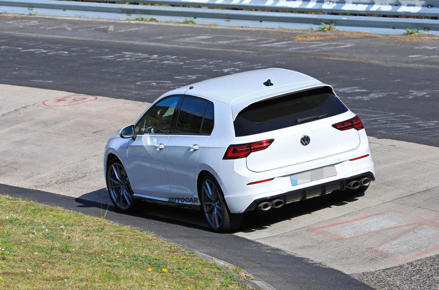 2020 Volkswagen Golf R prototype at Nurburgring