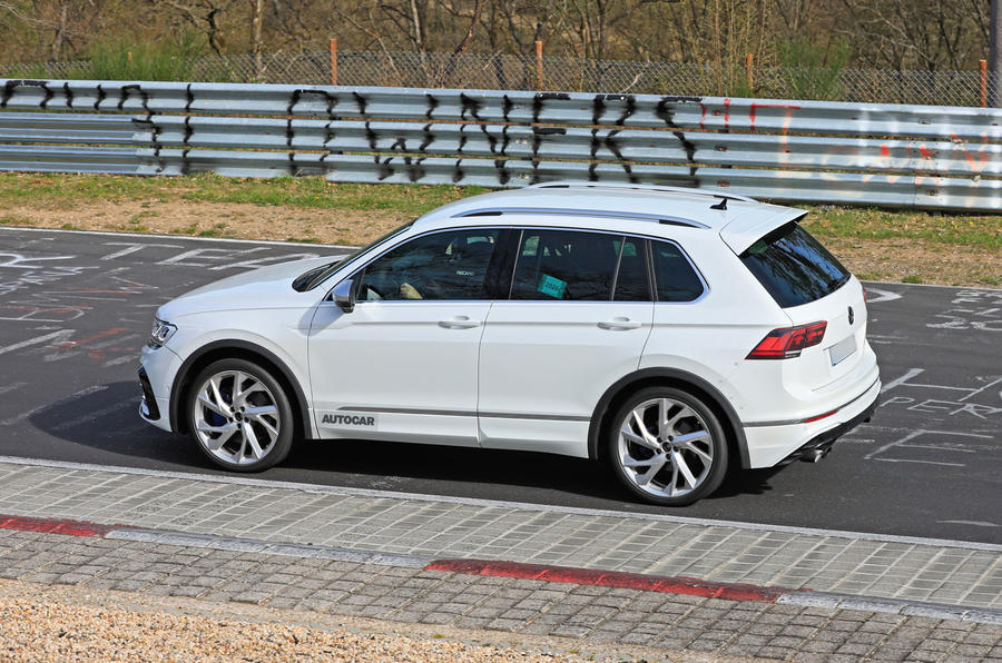 2020 Volkswagen Tiguan R prototype at the Nurburgring