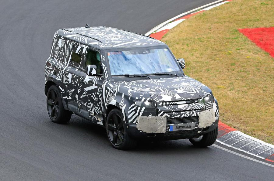2020 Land Rover Defender testing at Nurburgring