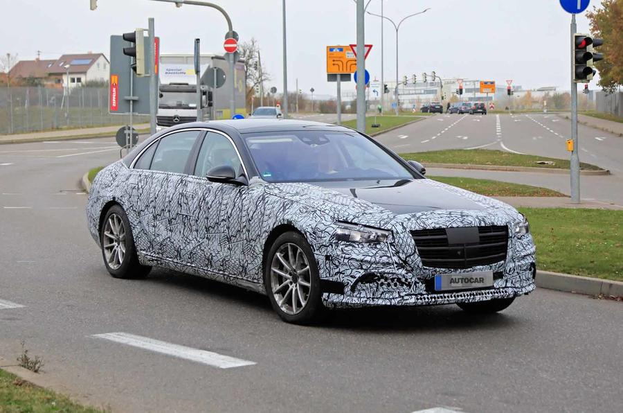 Mercedes S-Class spyshots new front side
