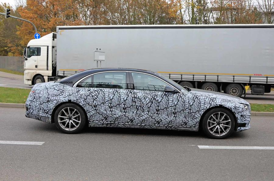 Mercedes S-Class spyshots new side