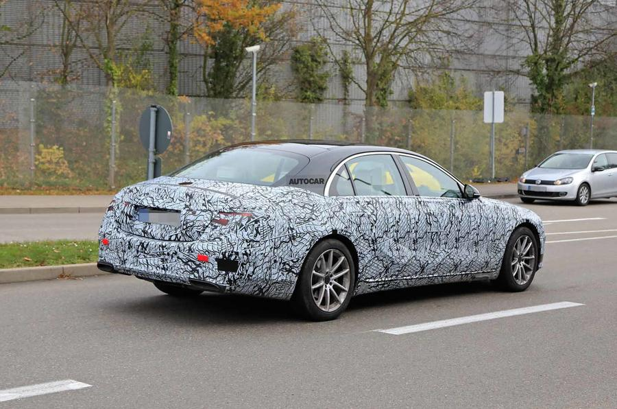 Mercedes S-Class spyshots new side rear