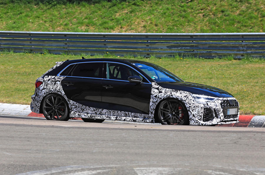 2021 Audi RS3 prototype at the Nurburgring