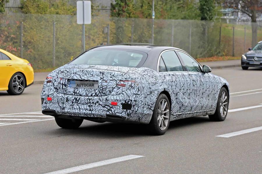 Mercedes S-Class spyshots new rear side