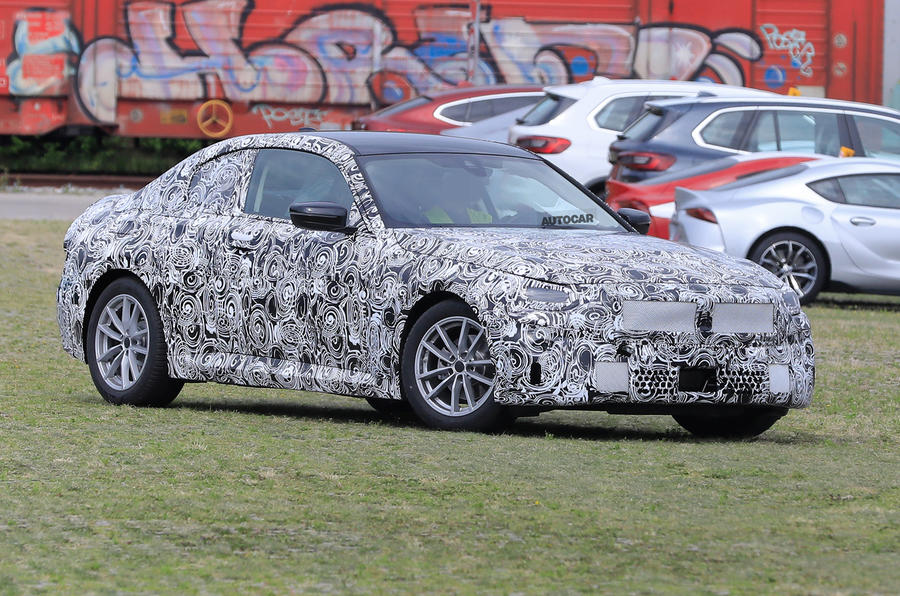 2021 BMW 2 Series Coupe - camouflaged prototype