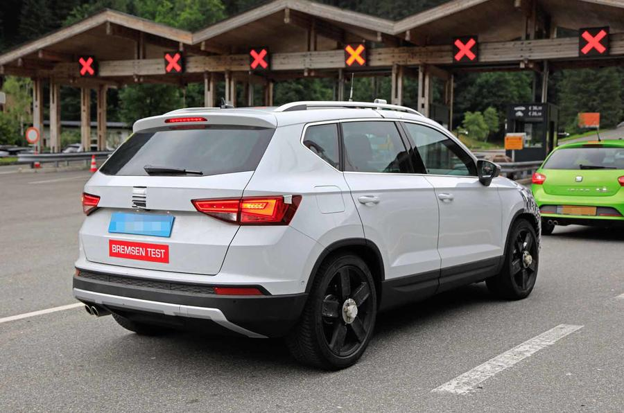 Disguised Seat Ateca rear three quarters