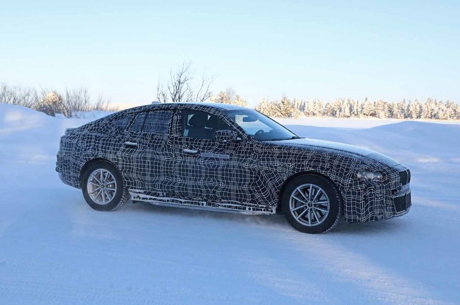 BMW i4 winter testing