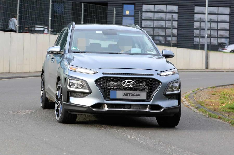 Hyundai Kona N spyshots front close