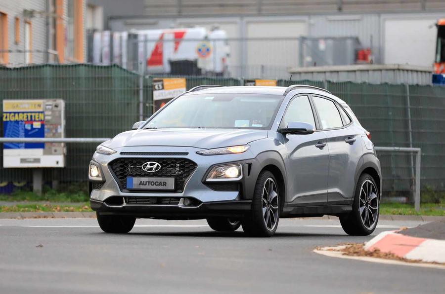 Hyundai Kona N spyshots front road