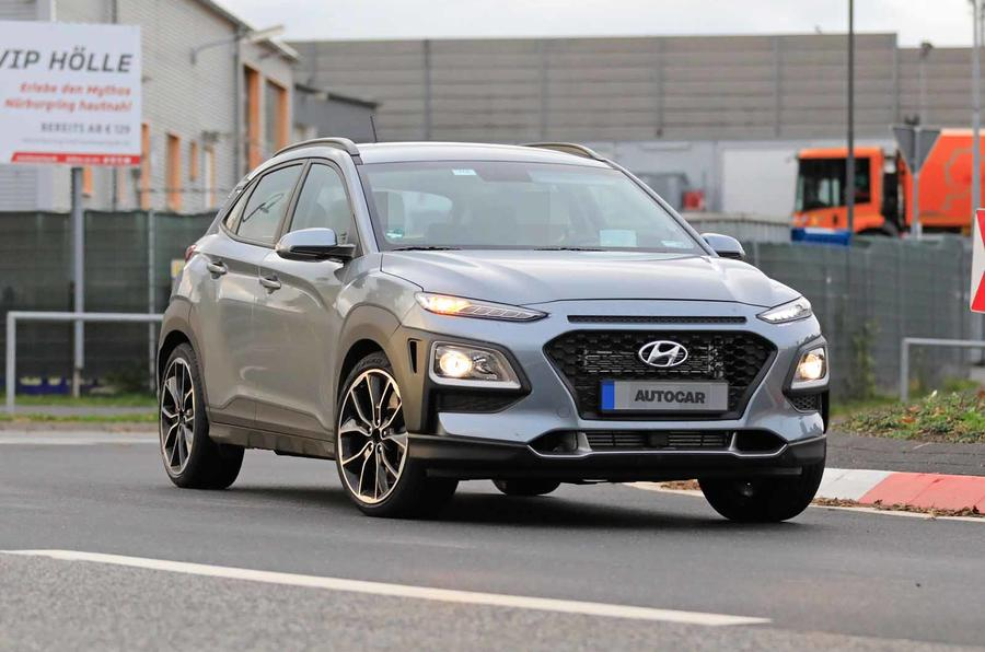 Hyundai Kona N spyshots front