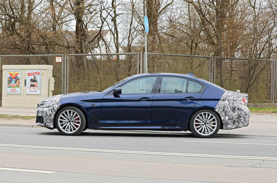 2021 BMW 5 Series saloon prototype - side