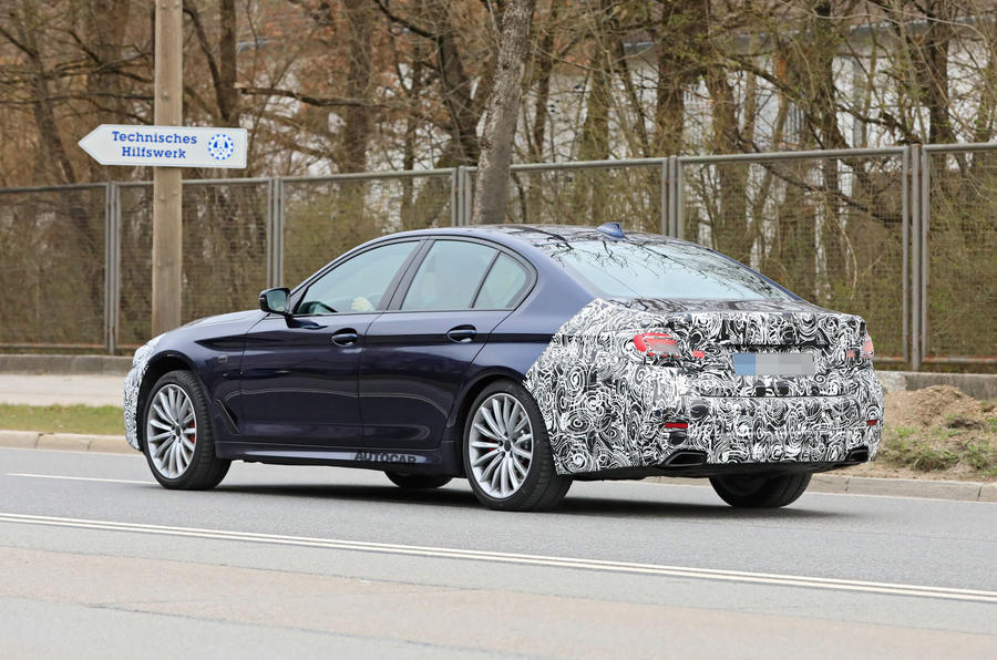 2021 BMW 5 Series saloon prototype - rear