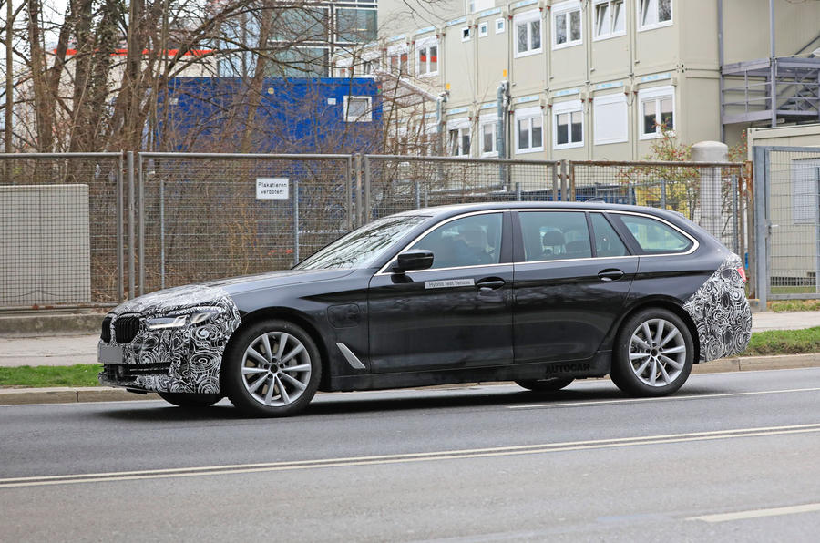 2021 BMW 5 Series Touring prototype - side