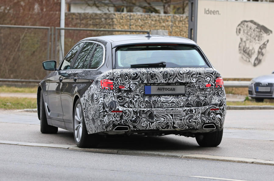2021 BMW 5 Series Touring prototype - rear