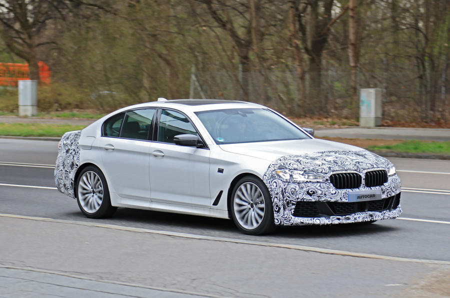 2021 BMW 5 Series saloon prototype - front