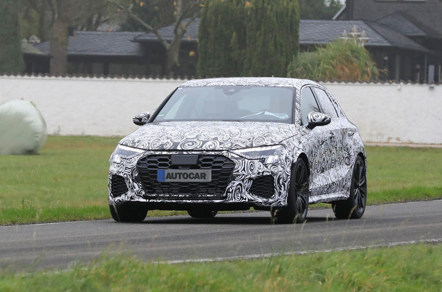 New 2020 Audi RS3: 394bhp A45 rival spied in saloon form ...