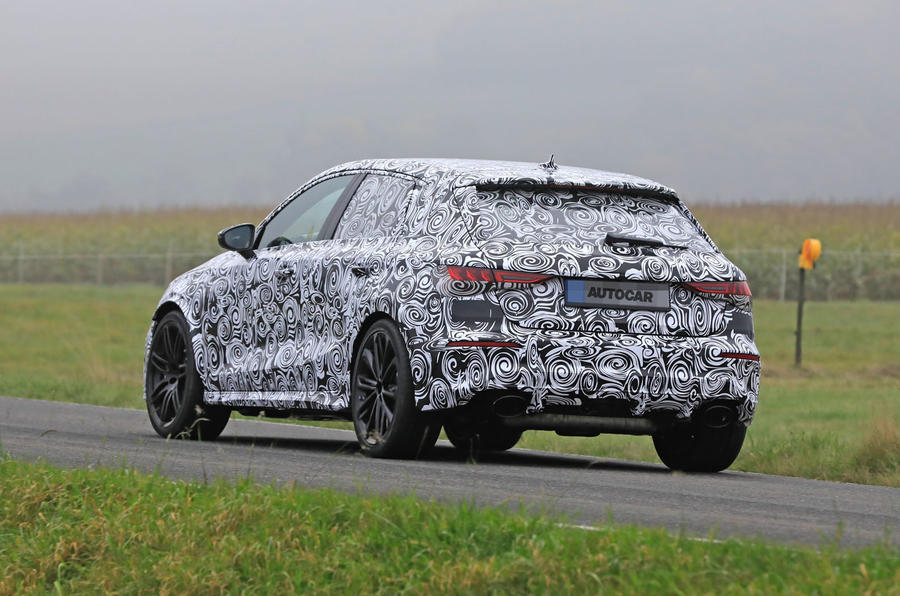 2020 Audi RS3 prototype - rear