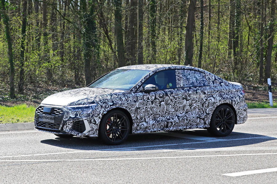 2020 Audi RS3 saloon prototype - front 3/4