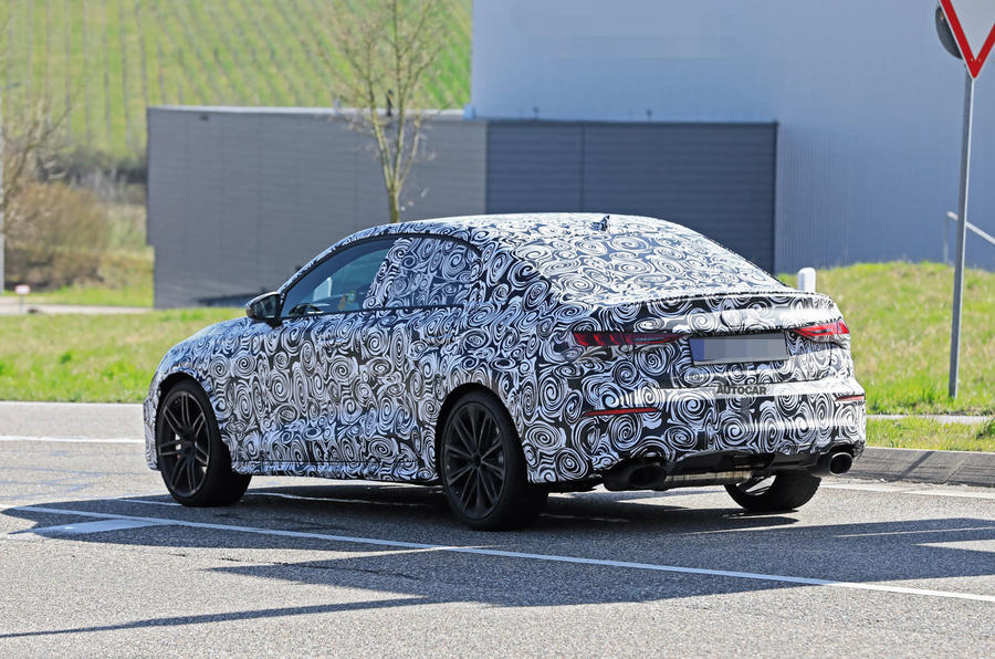 2020 Audi RS3 saloon prototype - rear 3/4