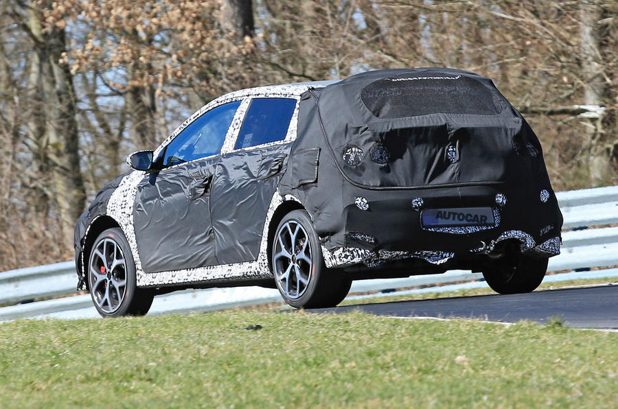 2021 Hyundai i20 N prototype at Nurburgring