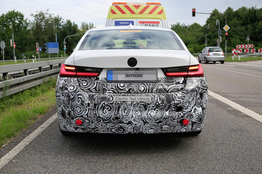 2020 electric BMW 3 Series prototype spy shots