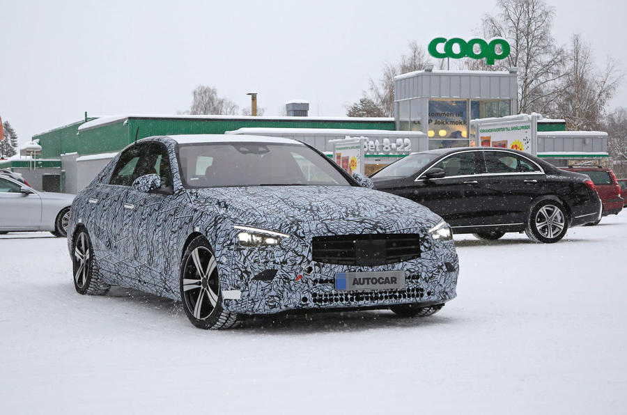 2021 Mercedes-Benz C-Class mule reveals production design ...