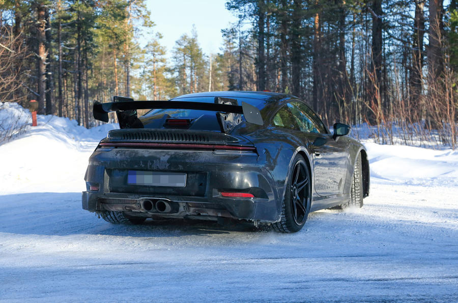 2020 Porsche 911 GT3 winter testing spies