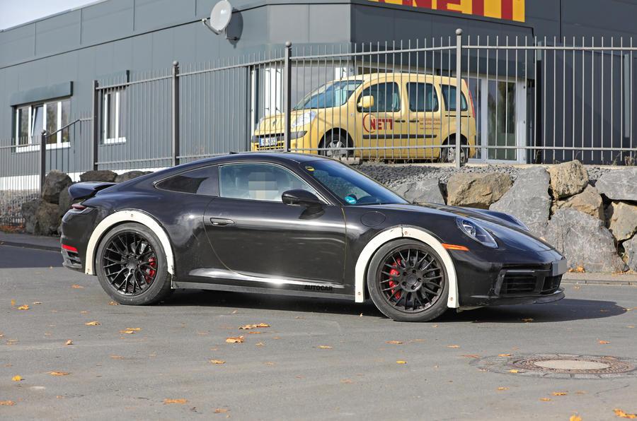 2020 Porsche 911 raised prototype at Nurburgring