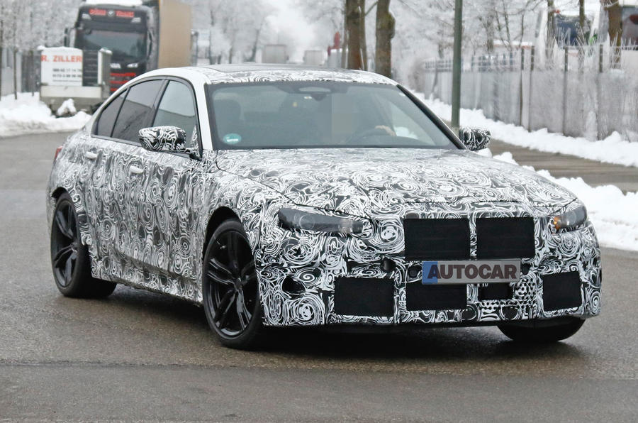 BMW M3 spy shot