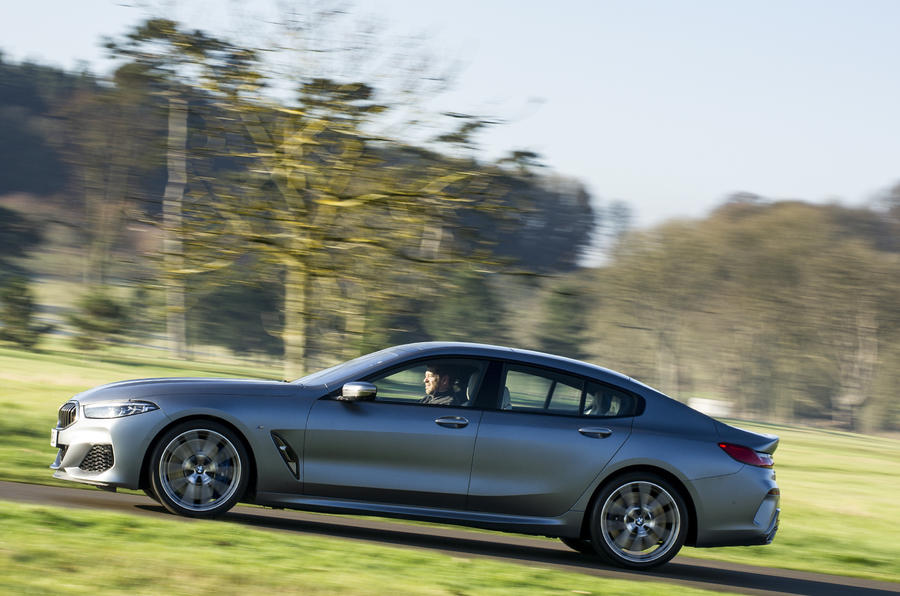 BMW 8 Series Gran Coupe 2019 UK first drive review - hero left