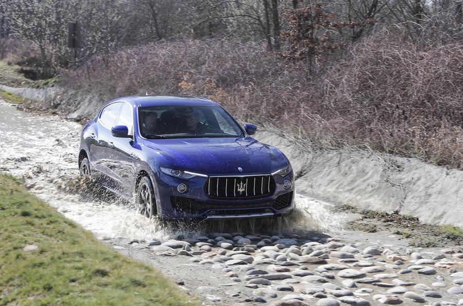 Maserati Levante wading