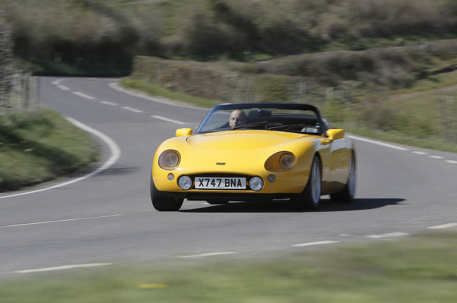 TVR Griffith cornering