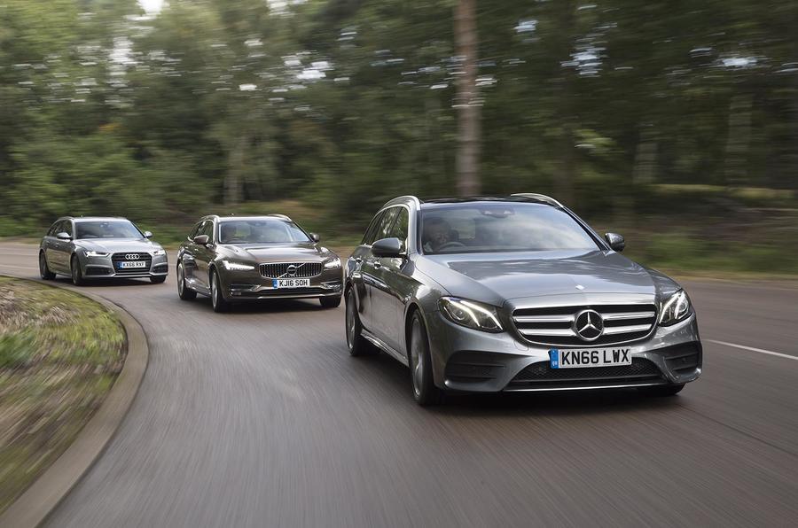 Audi Vs Mercedes >> Mercedes Benz E Class Estate Vs Volvo V90 Vs Audi A6 Avant