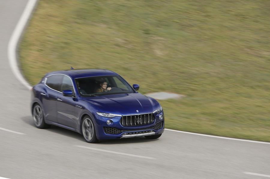 Maserati Levante hard cornering