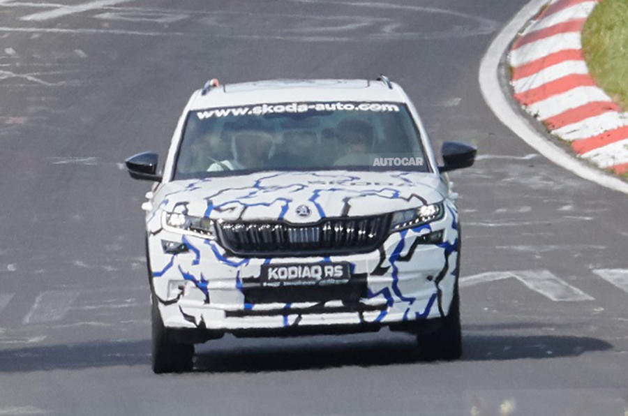 Skoda Kodiaq vRS shapes up in development