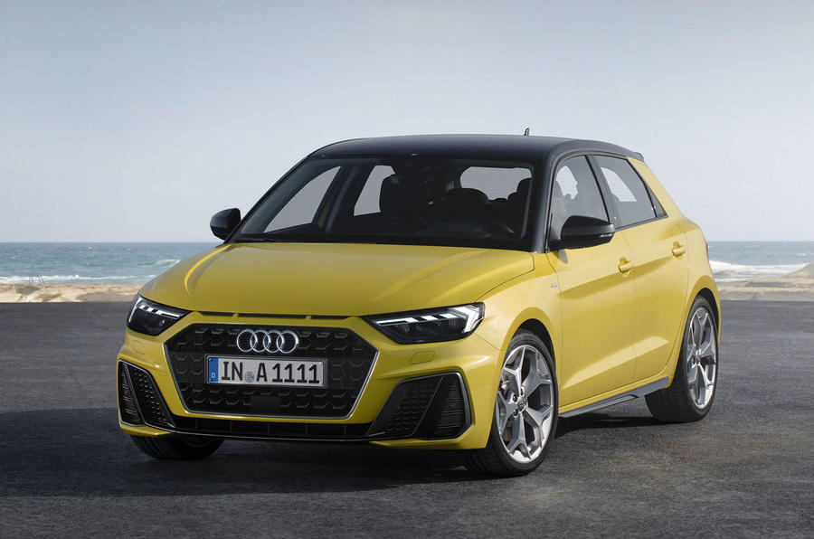 2018 audi a1 makes first public appearance at paris motor show autocar. Black Bedroom Furniture Sets. Home Design Ideas