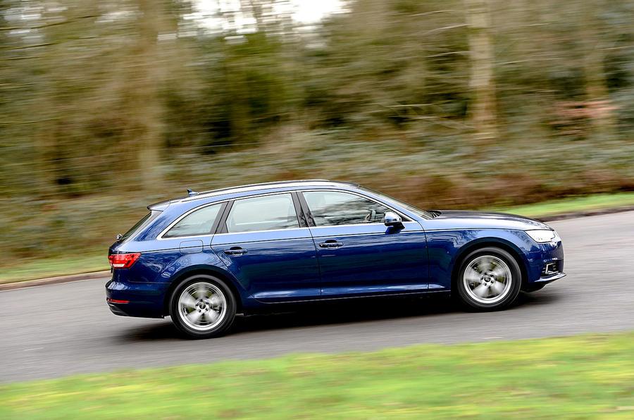 Audi A4 Avant cornering