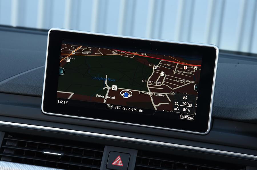 Audi A4 MMI infotainment system