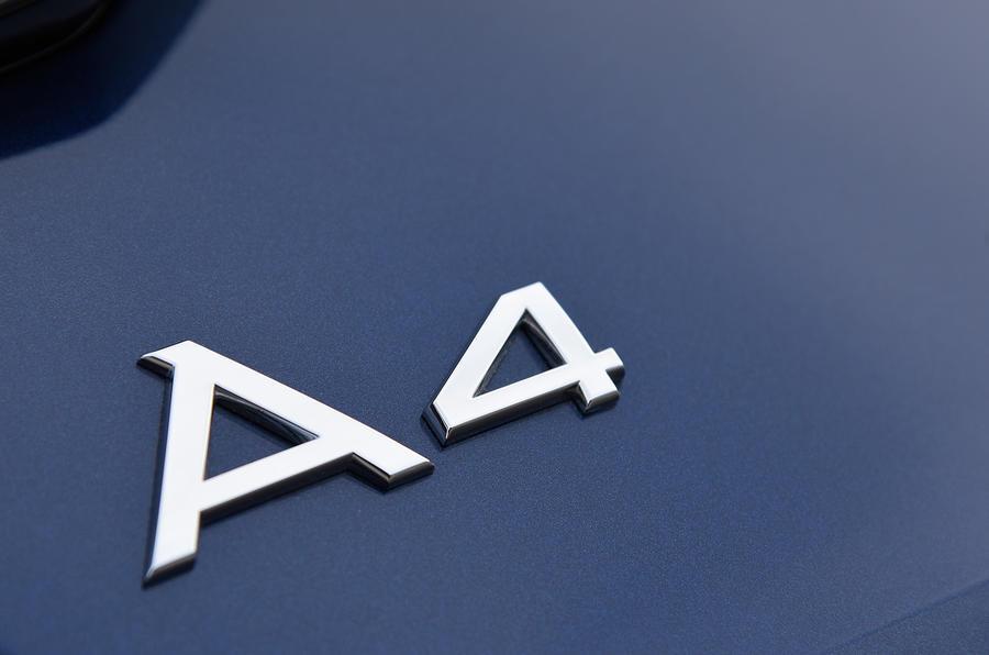 Audi A4 badging